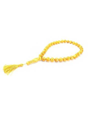 Vintage Style Honey Amber Islamic Prayer Beads With Tassel, image , picture 4