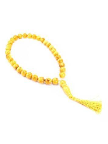 Honey Amber Muslim Prayer Beads With Tassel, image , picture 3
