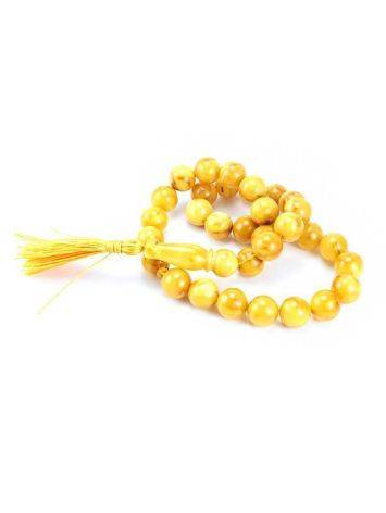 Honey Amber Muslim Prayer Beads With Tassel, image , picture 5