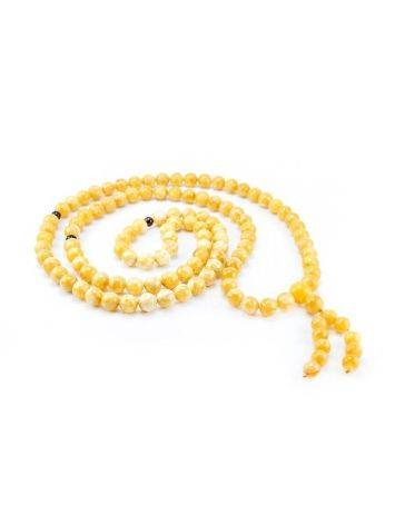 108 Honey Amber Mala Beads With Dangle, image , picture 4