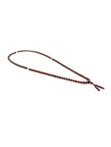 108 Cherry Amber Mala Beads With Dangle, image , picture 6