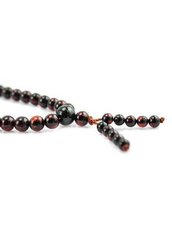 Cherry Amber Buddhist Prayer Beads, image , picture 4