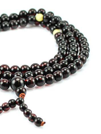 Cherry Amber Buddhist Prayer Beads, image , picture 2