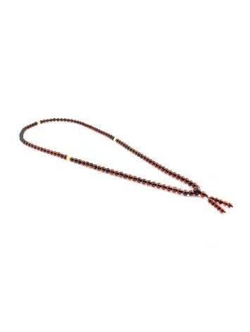 108 Cherry Amber Buddhist Prayer Beads With Dangle, image , picture 4