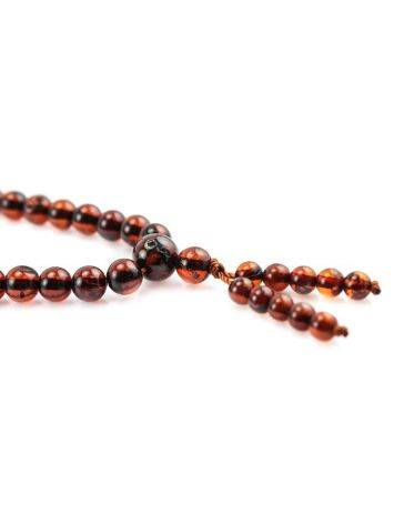 108 Cherry Amber Buddhist Prayer Beads With Dangle, image , picture 5