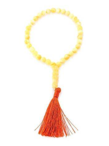 33 Honey Amber Islamic Rosary Beads With Tassel, image , picture 3
