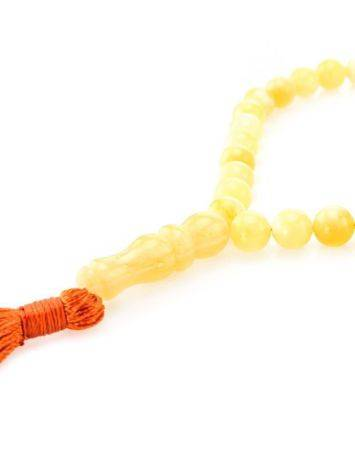 33 Honey Amber Islamic Rosary Beads With Tassel, image , picture 2