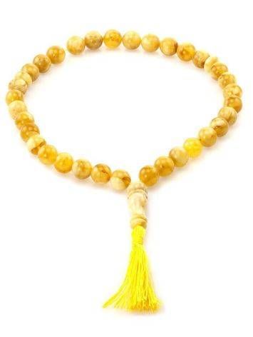 Butterscotch Amber Islamic Prayer Beads With Tassel, image , picture 3