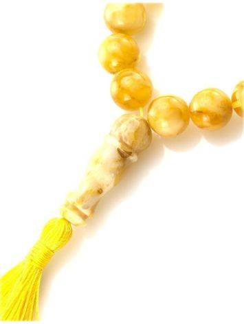 Butterscotch Amber Islamic Prayer Beads With Tassel, image , picture 2