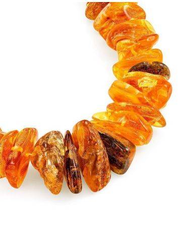 Bold Raw Amber Beaded Necklace, image , picture 4