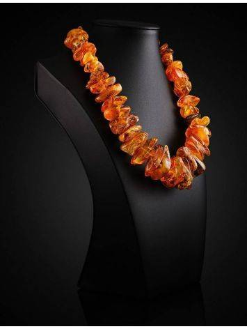 Bold Raw Amber Beaded Necklace, image , picture 2