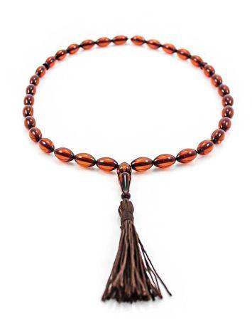 Cognac Amber Islamic Prayer Beads With Tassel, image , picture 2