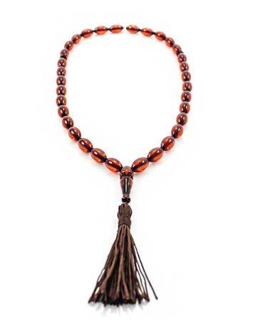 Cognac Amber Islamic Prayer Beads With Tassel, image , picture 3