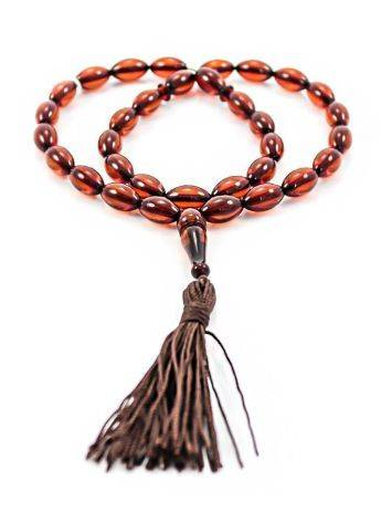 Cognac Amber Islamic Prayer Beads With Tassel, image , picture 4