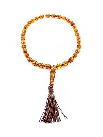 33 Amber Muslim Prayer Beads With Tassel, image , picture 2