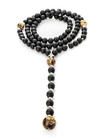 Black Amber Mala Beads The Cuba, image , picture 3