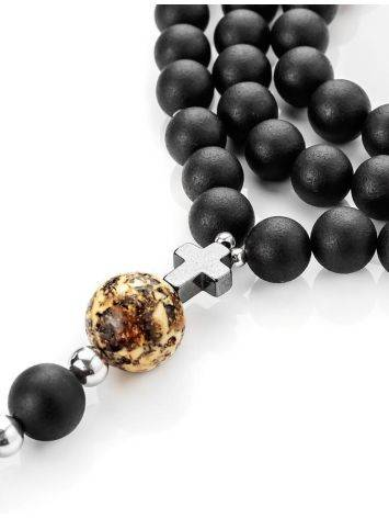 Black Amber Mala Beads The Cuba, image , picture 6