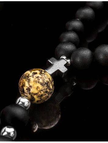 Black Amber Mala Beads The Cuba, image , picture 2