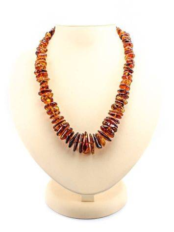 Cognac Amber Beaded Necklace, image