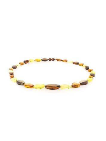 Faceted Multicolor Amber Beaded Necklace, image , picture 4