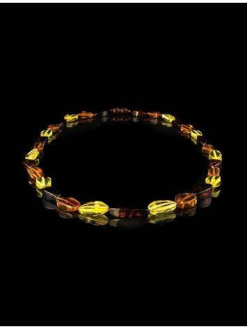 Faceted Multicolor Amber Beaded Necklace, image , picture 5