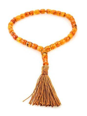 33 Multicolor Amber Islamic Prayer Beads With Tassel, image