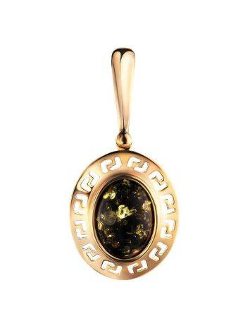 Oval Golden Amber Pendant The Ellas, image