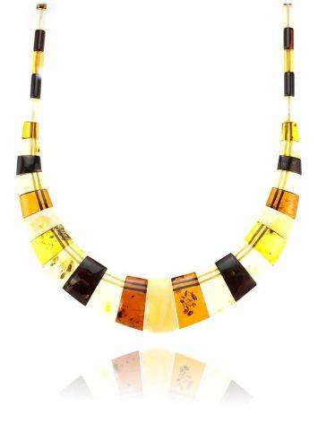 Multicolor Amber Necklace The Egypt, image , picture 5