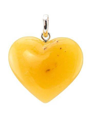 Bold Honey Amber Heart Pendant The Declaration, image , picture 5