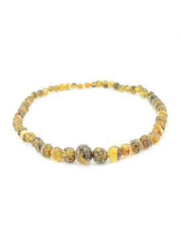 Hammer Cut Amber Necklace The Meteor, image , picture 3