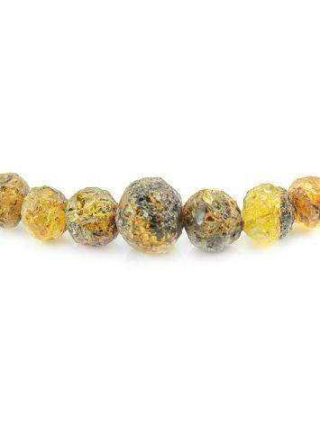 Hammer Cut Amber Necklace The Meteor, image , picture 2