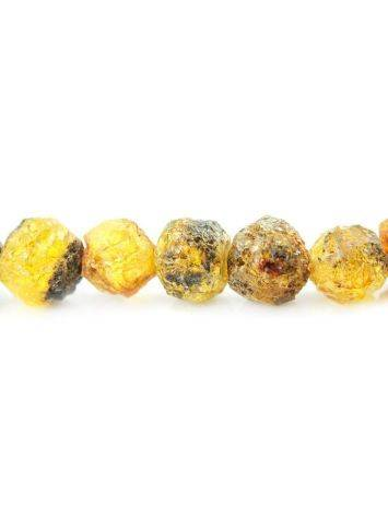 Hammer Cut Amber Necklace The Meteor, image , picture 4