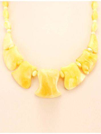 Cloudy Honey Amber Necklace, image , picture 5
