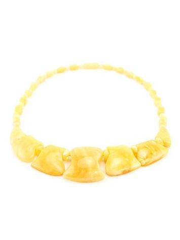 Cloudy Honey Amber Necklace, image , picture 6