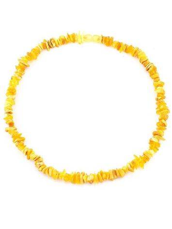 Unpolished Amber Beaded Necklace, image , picture 5