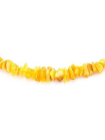 Unpolished Amber Beaded Necklace, image , picture 2