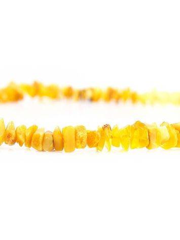 Unpolished Amber Beaded Necklace, image , picture 4