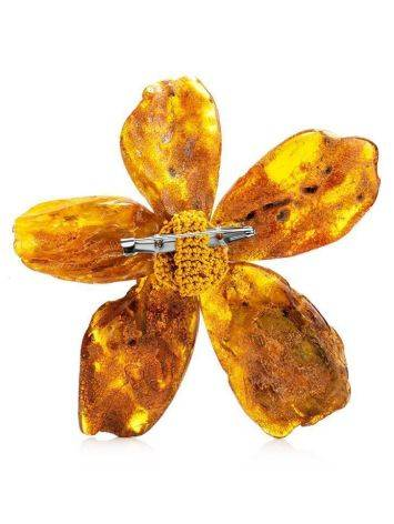 Amber Floral Brooch The Volcano, image , picture 3