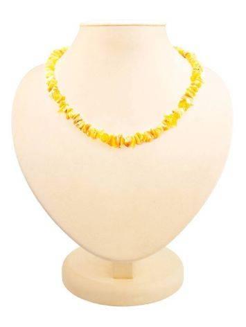Unpolished Amber Beaded Necklace, image