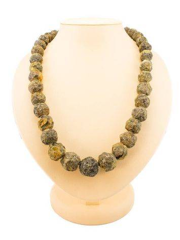 Hammer Cut Amber Necklace The Meteor, image