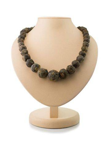 Hammer Cut Amber Beaded Necklace The Meteor, image