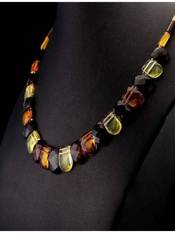 Multicolor Faceted Amber Necklace The Cleopatra, image , picture 2