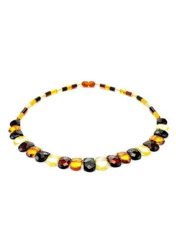 Multicolor Faceted Amber Necklace The Cleopatra, image , picture 6
