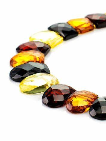 Multicolor Faceted Amber Necklace The Cleopatra, image , picture 3
