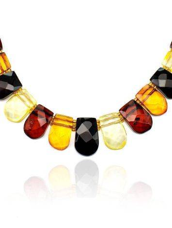 Multicolor Faceted Amber Necklace The Cleopatra, image , picture 4