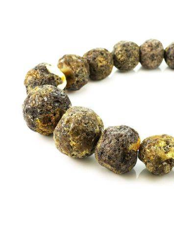 Amber Oversized Ball Beaded Necklace The Meteor, image , picture 3