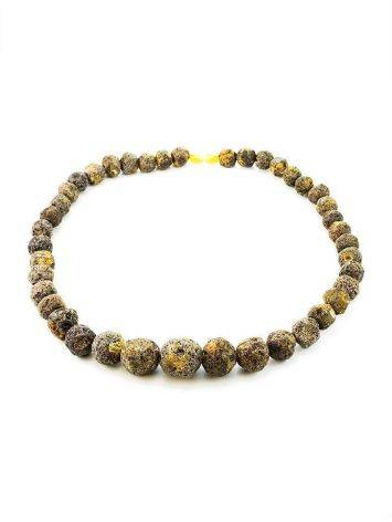 Hammer Cut Amber Beaded Necklace The Meteor, image , picture 4