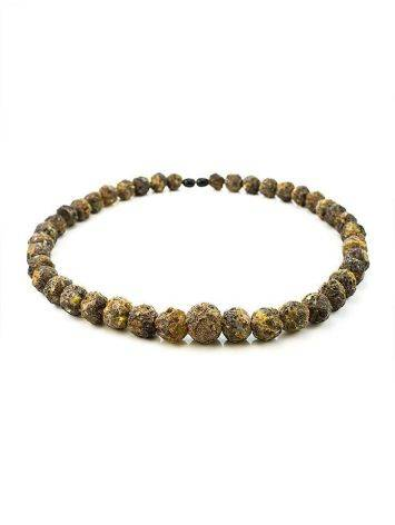 Raw Amber Ball Beaded Necklace The Meteor, image , picture 4