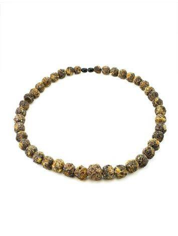 Raw Amber Ball Beaded Necklace The Meteor, image , picture 5