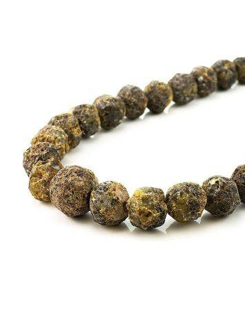 Raw Amber Ball Beaded Necklace The Meteor, image , picture 3